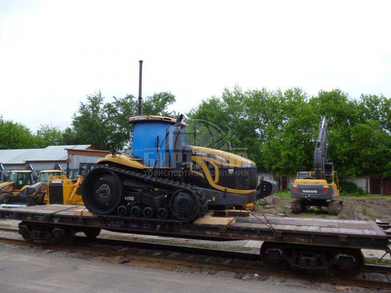 Перевозка сельскохозяйственного трактора Caterpillar ЖД транспортом ТК БИРТРАНС
